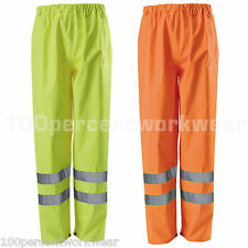 Blackrock High Vis Viz Visibility Waterproof Over Trousers Pants Yellow Orange