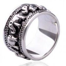 The God of Luck .925 Thai Silver Lucky Ring for Men's Fashion