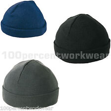 Panoply JURA Acrylic Knitted Hat Cap Beanie Black Navy Blue Grey Mens Work Wear