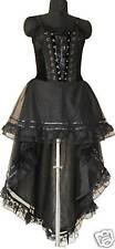 Gothic Long Corset Dress Vampire Halloween Evening Gown Opera Diff Color & Sizes