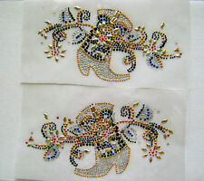 BIKER / WESTERN COWBOY BOOTS  RHINESTONE IRON ON APPLIQUE / HOT FIX TRANSFER