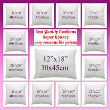 Cushion Pads Insert Fillers, Hollow Fiber, Duck Feather Cushion Pad All Sizes