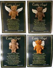 Teddy Bear Angel Pin Brooch with poem teddy bear badge with wings and halo
