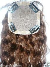 Silk Top Full Lace Closure Deep Wave Human Indian Remy Hair Partial Wig