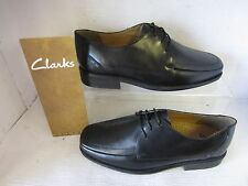 MENS CLARKS SHOES ASTUTE STYLE BLACK LACE UP FITTING H / EXTRA WIDE LEATHER