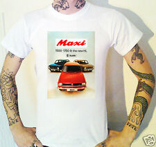 Vintage Austin Maxi Advert T-Shirt New Automotive British Leyland Classic Car