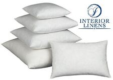 "Pillow Inserts: 90/10 White Goose Down - 2"" Oversized & Firm Filled"
