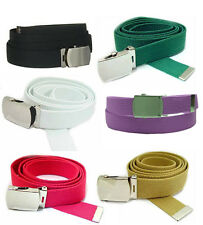 Canvas Web Belt Military Style - Many Colors