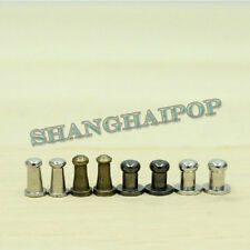 10 x Solid Round Head Nail Rivet Chicago Screws Copper Leather Belt Craft 4-5mm