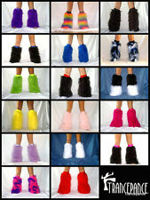 Ready Made Rave Fluffies Fluffy Furry Boots Covers Legwarmers Furries Go Go Neon