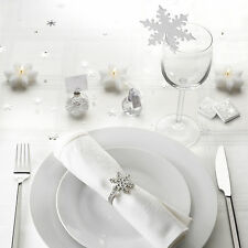 Shimmering snowflake place cards bubbles for christmas wedding table decoration