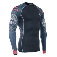 FIXGEAR Compression shirt base layer skin tight under training running CPD-B5