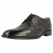 LOAKE MENS BLACK LEATHER LACE UP FORMAL BROGUE SHOES - ARLINGTON