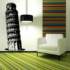 LEANING TOWER OF PISA wall sticker decal mural stencil transfer landmark tower