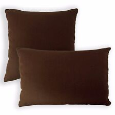 Aa153a Plain Solid Brown Cotton Canvas Cushion Cover/Pillow Case*Custom Size*