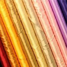 SOFT QUALITY LIGHTWEIGHT COLOURED SILKY SATIN SHIMMER DRESS BRIDAL LINING FABRIC