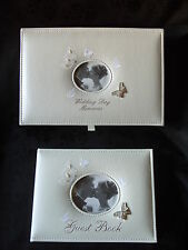 Butterfly Guest Book OR Wedding Albums choice of album size pearls and diamantes