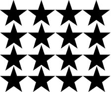 (16) Star Shape Die Cut Vinyl Decal Stickers 1 inch MANY USES & MANY COLORS