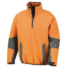 New RESULT Mens Tech Opus Light Soft Shell Zip Neck Top in 3 Colours XS - 3XL