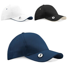 New BEECHFIELD Pro-Style Ball Mark Golf Baseball Cap Hat in 4 Colours One Size