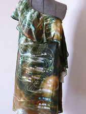 OJAY- AMASSING PURE SILK EXPOSED PRINT EVENING/WEDDING/DRESS RRP: 199.95