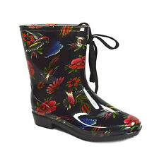 NEW 50$ IRON FIST Women's rainboots Society suicide cropped  5/7 black rubber