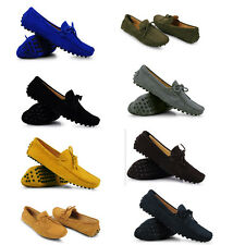 Mens Comfort Suede Leather tassel slip-on DRIVING Loafer shoes US SIZE US6-US11