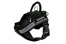Fully Chest Padded Dog Harness with Velcro Patches: WORKING SERVICE DOG