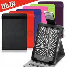 THIN CASE COVER WITH FLIP STAND PU LEATHER FOR AMAZON KINDLE 4 WiFi - UK POST