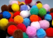 1000 pcs MINI COLOURED  POM POMS , POMPOMS, BUBBLES- 10mm