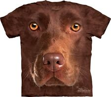 Chocolate Lab Dog Face The Mountain Adult & Youth (Child) T-Shirts