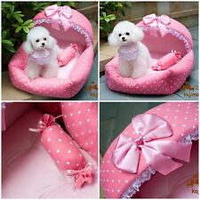 New Prince Princess Cute Cozy Soft Lace Pet Bed For Small-Medium Dog Puppy Cat