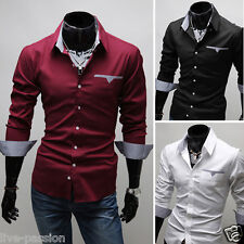 2015 Collection New Mens Suit Sexy Formal Casual Slim Fit Dress Shirt-HSS