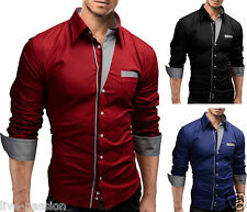 2015 Collection New Mens Suit Sexy Formal Casual Slim Fit Dress Shirt-DSS