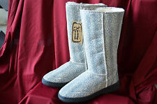NEW! Aussie Dogs Kids Little Girls Snow Sherpa Tall Boots Leopard sizes 9 & 10