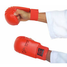 EKF Approved Karate Competition Mitts RED Gloves Hand Martial Arts Sparring