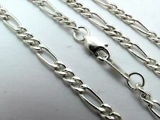 "Taxco Mexican 925 Sterling Silver Figaro Chain Necklaces.16-28"", 41-71cm, 7-12g"