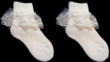 New Wholesale Lot 1Dz  Baby Socks -  Lace Socks -  Sizes: S-M-L (# E00011)