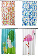Retro kitsch IKEA patterned fabric Shower curtain