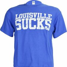 University of Kentucky Louisville SUCKS Royal Tee Shirt KY Wildcats Basketball