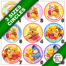 Winnie the Pooh Edible Icing Picture Round Circle Cake Topper b