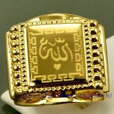 EXALTED ALLAH 18K YELLOW GOLD GP RING size 8,9,10,11,12 UK P,R,T,V,X SOLID GEP