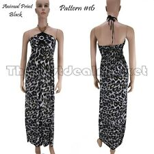 2013 Fashion Long Summer Dress Beach Hippie Party Wear Leopard Print Pattern #16