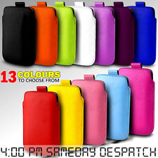 LEATHER PULL TAB SKIN CASE COVER POUCH  FOR BLACKBERRY CURVE 9790 PHONE