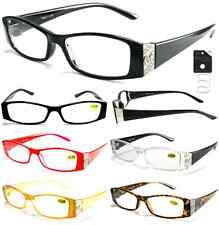Plastic Color Reading Glasses with Metal Logo Design