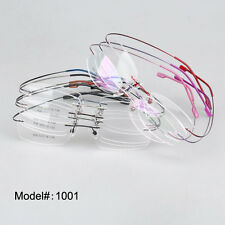 1001 rimless hingless memory titanium eyeglasses frame RX optical eyewear