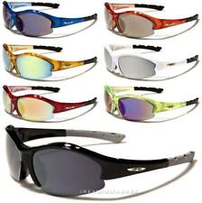 X-LOOP DESIGNER SUNGLASSES MENS BOYS WOMENS WRAP BLACK LARGE SPORT GOLF CYCLING