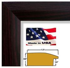 Cherry Maroon 1.5 in Sloped  Elegant Picture Poster Frame Wood Composite 6 in