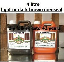 Creoseal 4L Wood Treatment Creosote substitute Fence Paint light or dark Brown