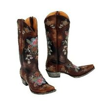 OLD GRINGO BONNIE L649-1 WOMENS CHOCOLATE FLORAL WESTERN BOOTS $550 RETAIL